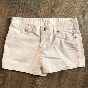 Girls size 8 white shorts
